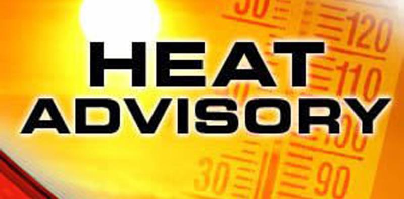 Heat Advisory in effect again