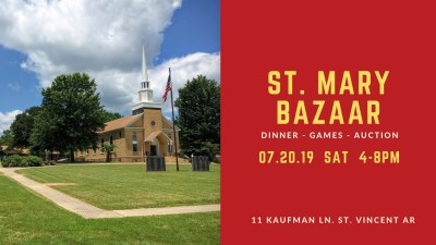 St. Mary to host annual bazaar on Saturday