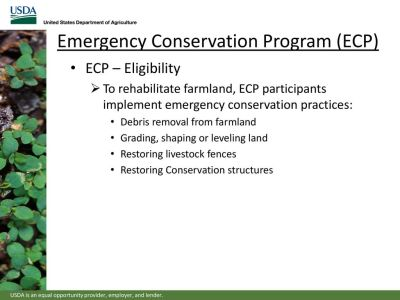 Local farmers eligible for Emergency Conservation funding
