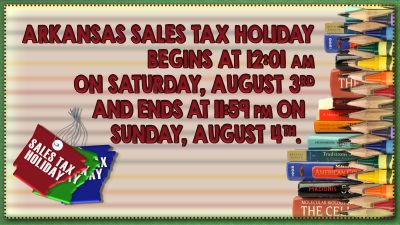 Arkansas Sales Tax Holiday this weekend