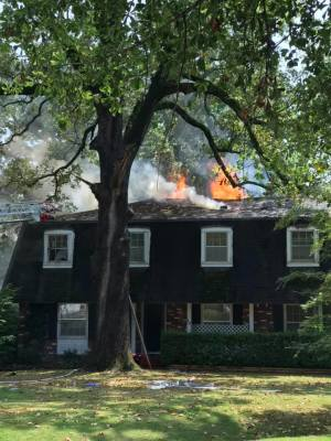 Fire claims home in Deerwood subdivision
