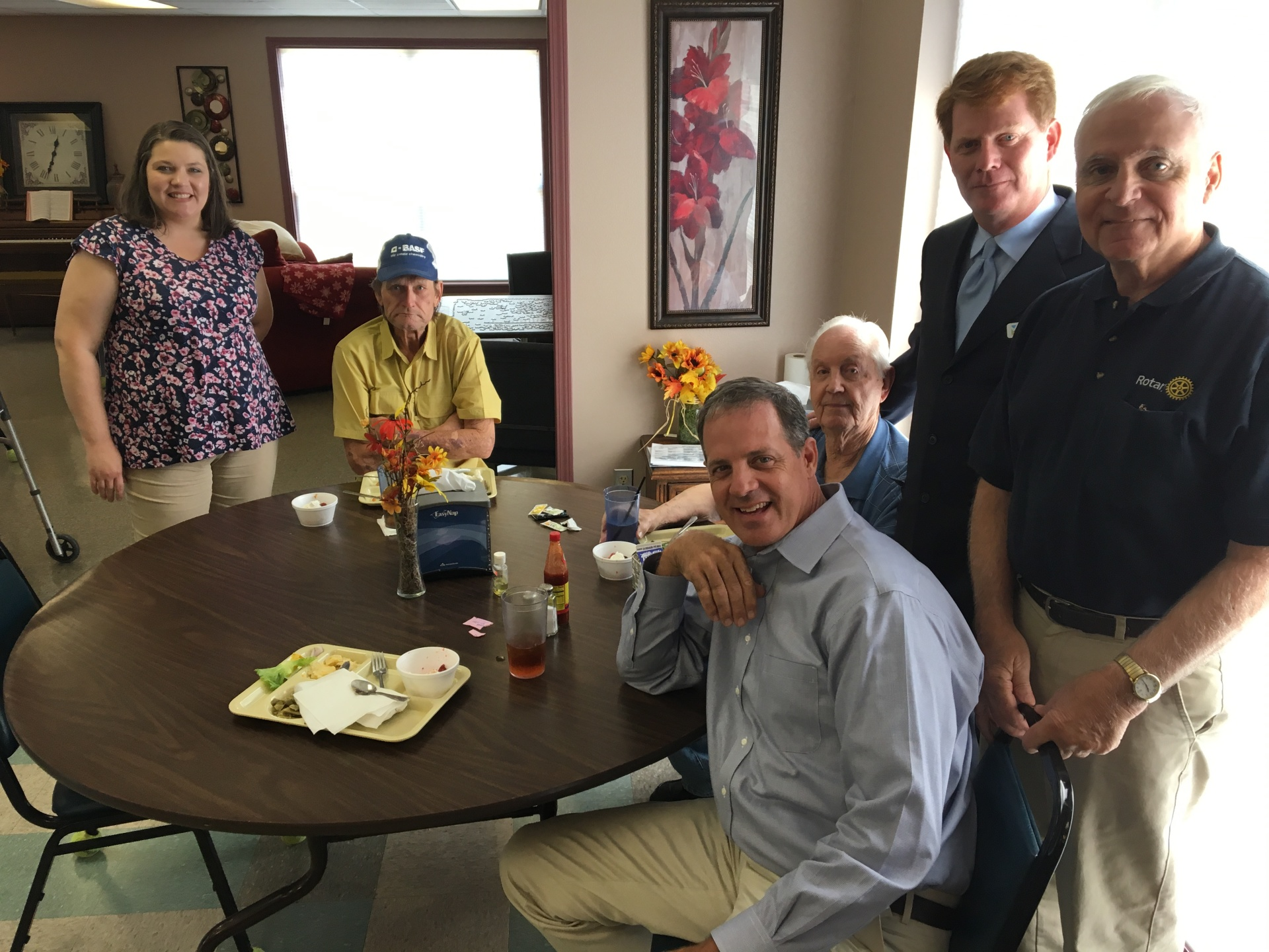 Rotarians visit T.C. Vaughn Senior Adult Center to assist seniors