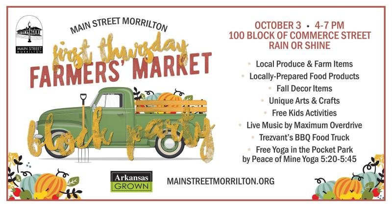 Main Street Morrilton to hold First Thursday this week
