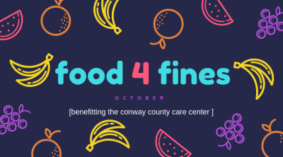 Food for Fines underway at Conway Co. Library