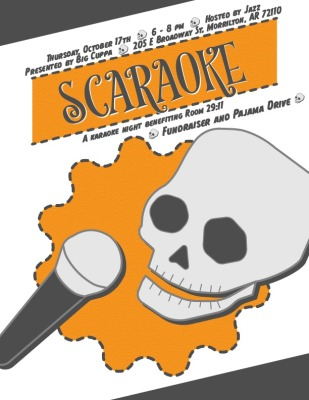 Big Cuppa hosting Scaraoke benefit for Room 29:11