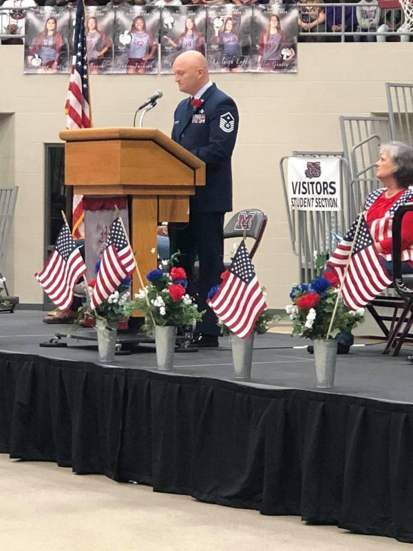 Veterans Day program held at Devil Dog Arena
