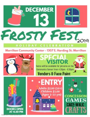 Morrilton Community Center to host first Frosty Fest