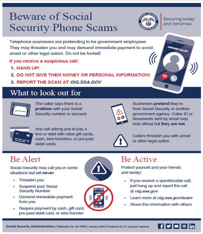 Social Security warns of phone scams