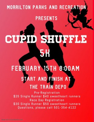 Morrilton Parks and Rec hosting Cupid Shuffle 5K