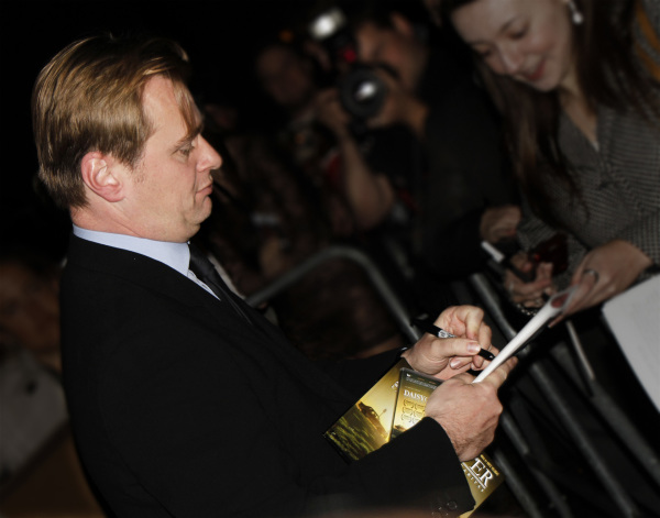 "Christopher Nolan with my 3D Animated Shortfilm ""Daisy Cutter"""