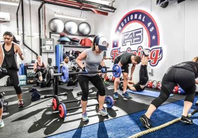 F45 group fitness class