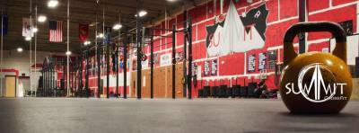 summit crossfit indoor gym picture with kettle bell