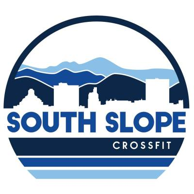 southslope crossfit clipart logo of blue ridge mountains and asheville skyline