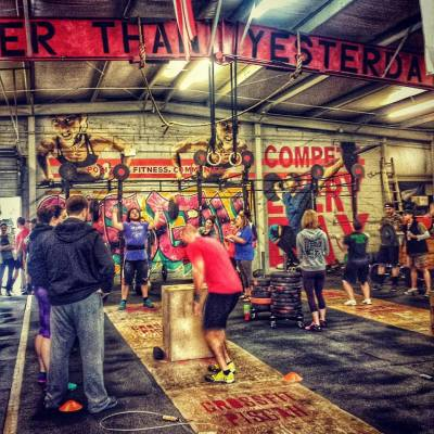 crossfit pisgah members working out