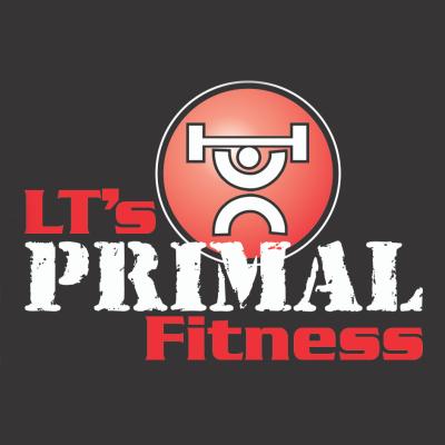LT's primal fitness logo barbell