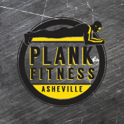 Plank Fitness Asheville logo clipart of man doing plank
