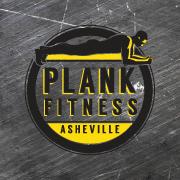 Plank Fitness Asheville logo clipart of man doing plank