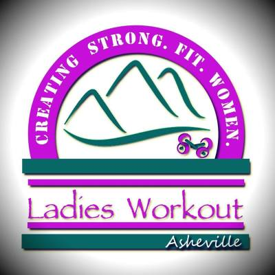 ladies workout asheville logo creating strong fit women