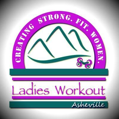 ladies workout asheville logo creating strong fit women
