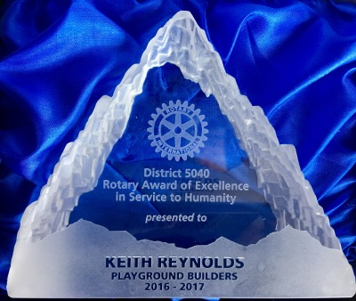 Keith Reynolds Receives Award from Rotary International