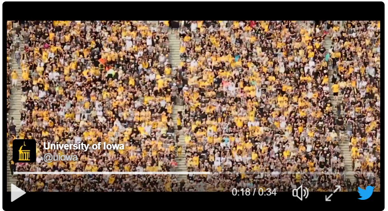 Iowa Hawkeye Football new tradition begins