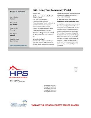 HPS Community Chronical Back