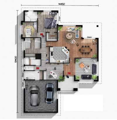 3d Floor Plan Design by Hanabanana