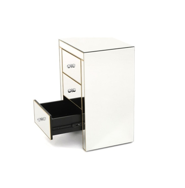 Tia Gold Nightstand