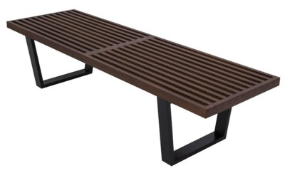 Walnut Wood Bench 60″