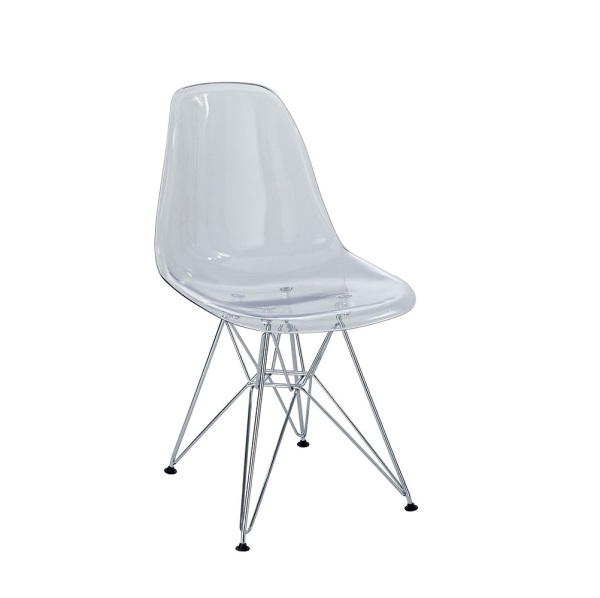 Eiffel Kids Chair Clear With Chrome