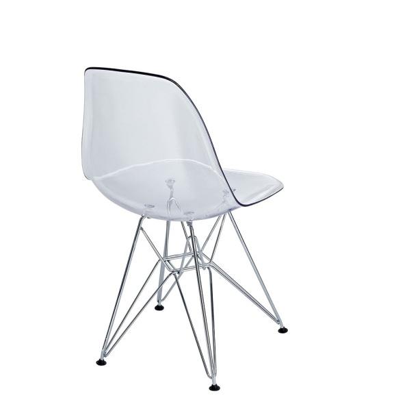 Eiffel Kids Chair Clear With Chrome