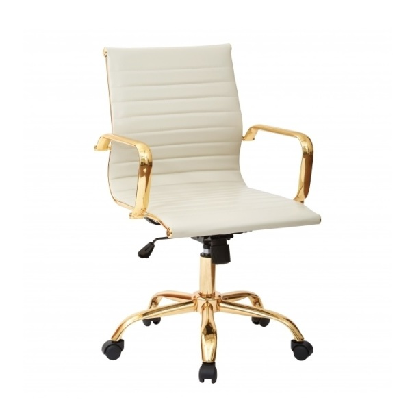 Toni Low Back Gold Office Chair