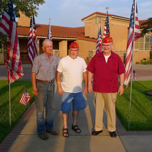 Lt-Rt; Buck Lee, Don Kirkley, _____?