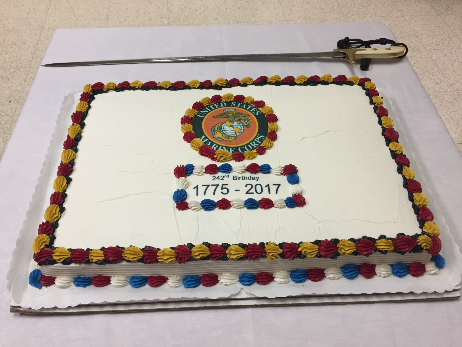 Birthday Cake, Detachment's Marine Corps 242nd Ball