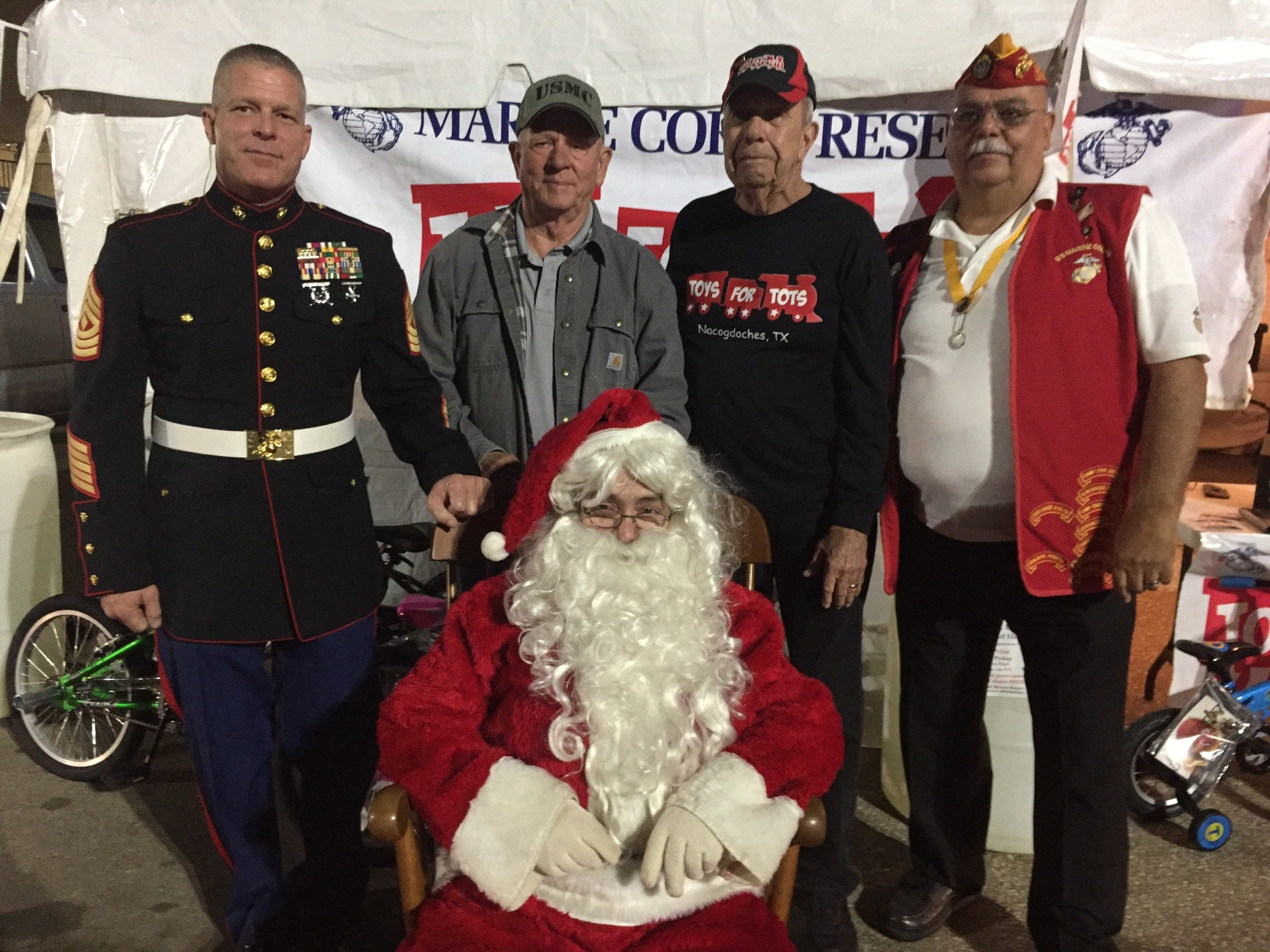 Toys For Tots Drive Wal-Mart Parking Lot O2 December 2017