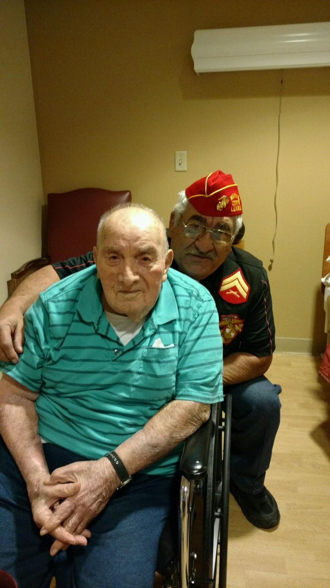 Lt-Rt; US Marine Corps Veteran, Jose Narvaez