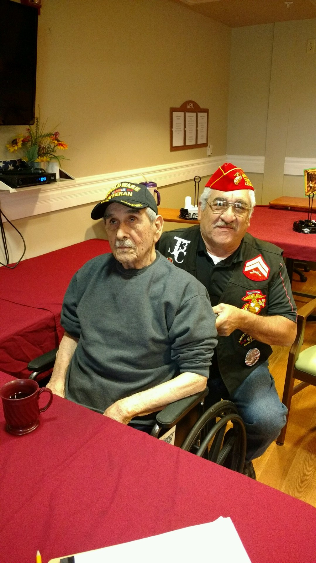 Lt-Rt; US Army (WWII) Veteran, Jose Narvaez