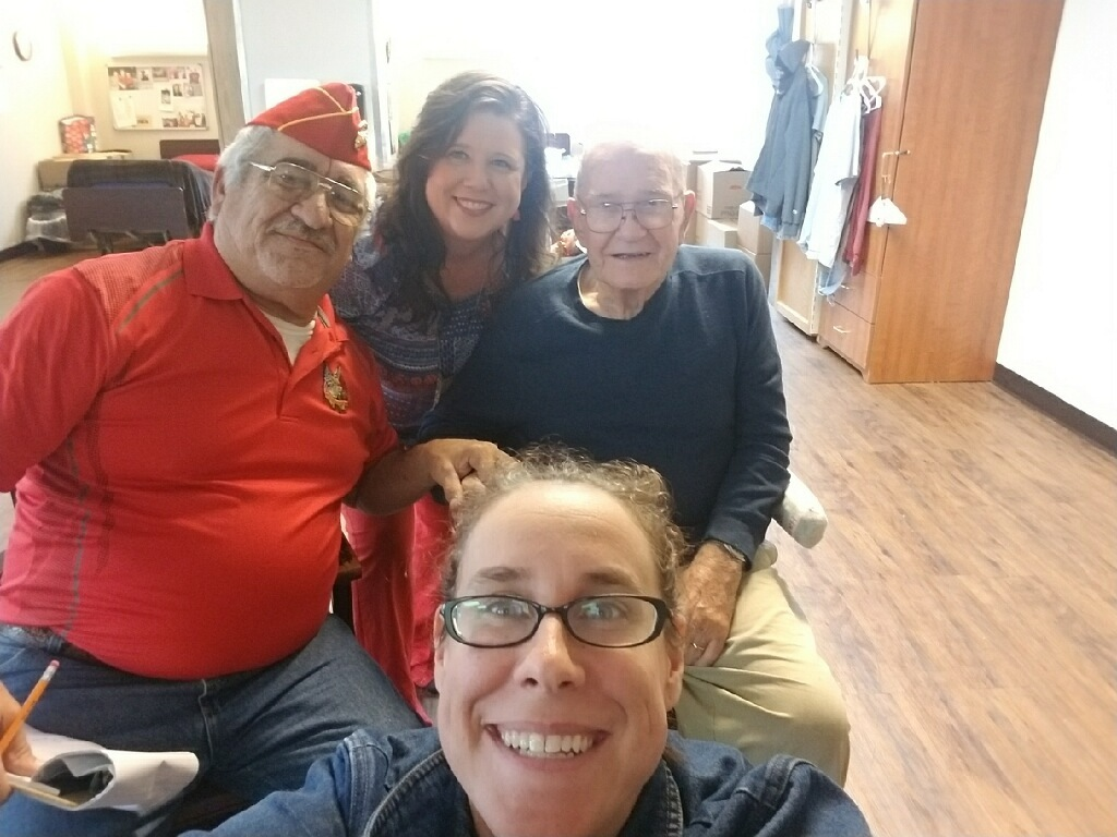 Lt-Rt; Jose Narvaez, Renee DETCOG, Veteran, Jennifer.