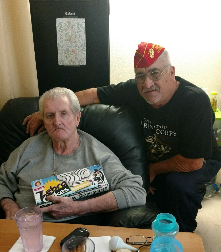 Lt-Rt: US Army Veteran & US Navy (Corpsman) Vietnam Veteran