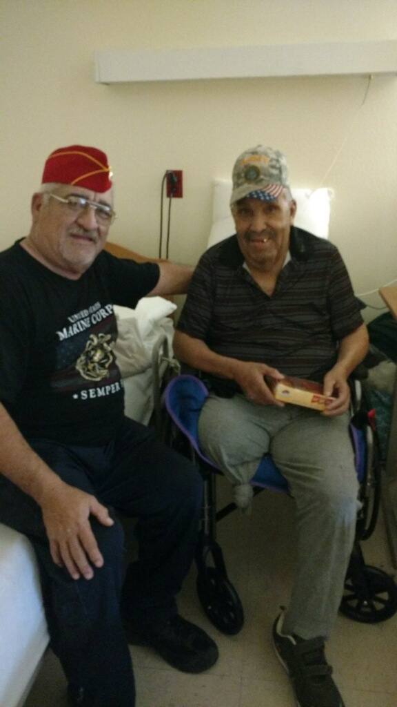 Lt-Rt; Jose Narvaez, US Army (Vietnam) Veteran