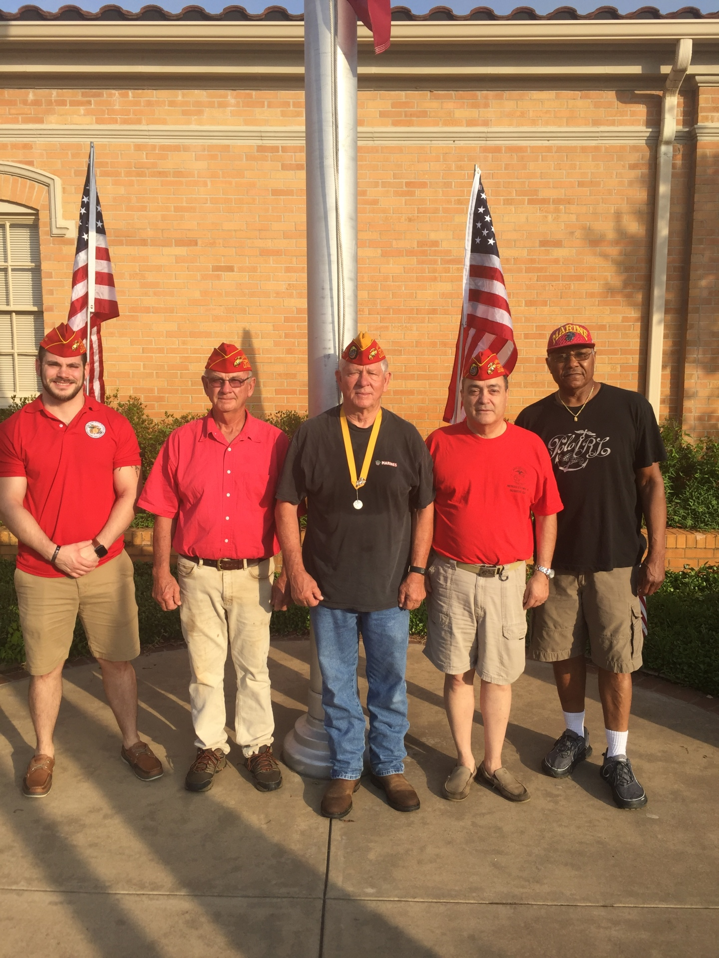 Lt-Rt; Michael Widenhouse, Steve Lee, Dan Singletary, Manny Guerrero, George Deckard