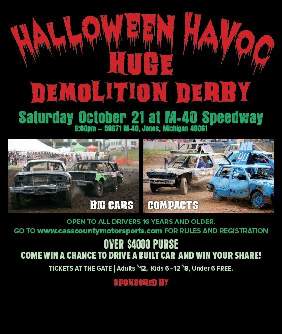 CASS COUNTY MOTORSPORTS PROMOTES BIG CAR AND SMALL CAR DERBY