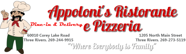 We Welcome Appoloni's Ristorante and Pizzeria