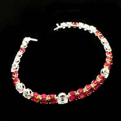 Ruby Diamond Bracelet