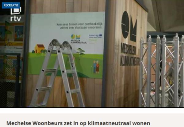 'De Renovatiemobiel' on regional television RTV: visit 'Wonen 2019' @ Mechelen (26/1/19 - 3/2/19)