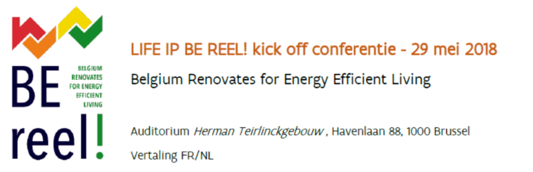 VEA, Mechelen & Antwerp involved in European project BE REEl!- Kick-off on 29 May 2018