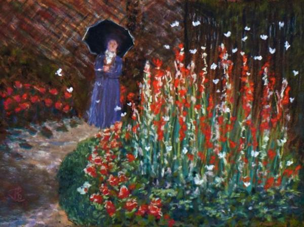 Walled Garden - 20 x 24 inches, framed