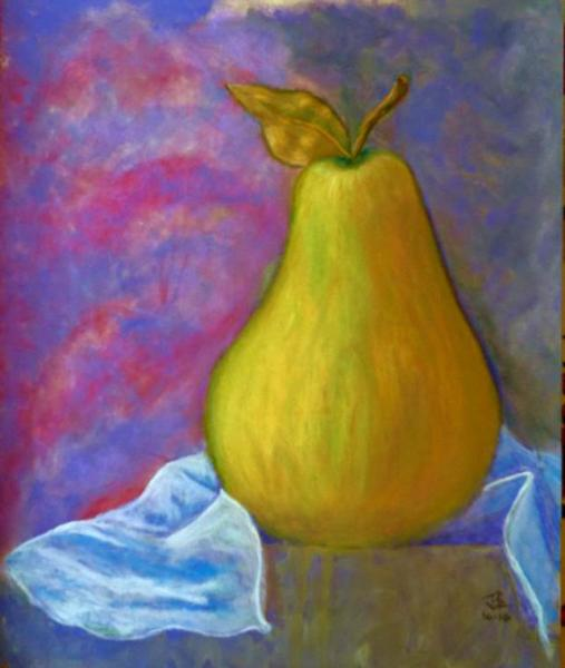 Golden Pear - 24 x 20 inches, framed