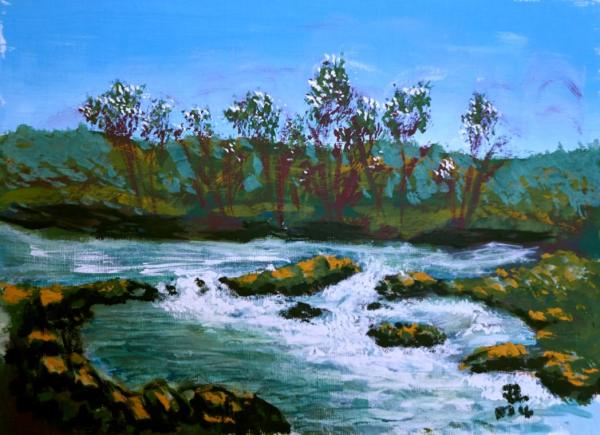 Rocky Rapids - 9 x 12 inches, approx, original
