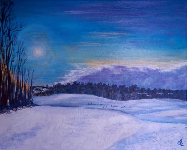Approaching Winter Storm - 18 x 22 inches, framed